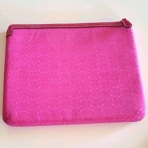 COACH monogram IPad Case Pink